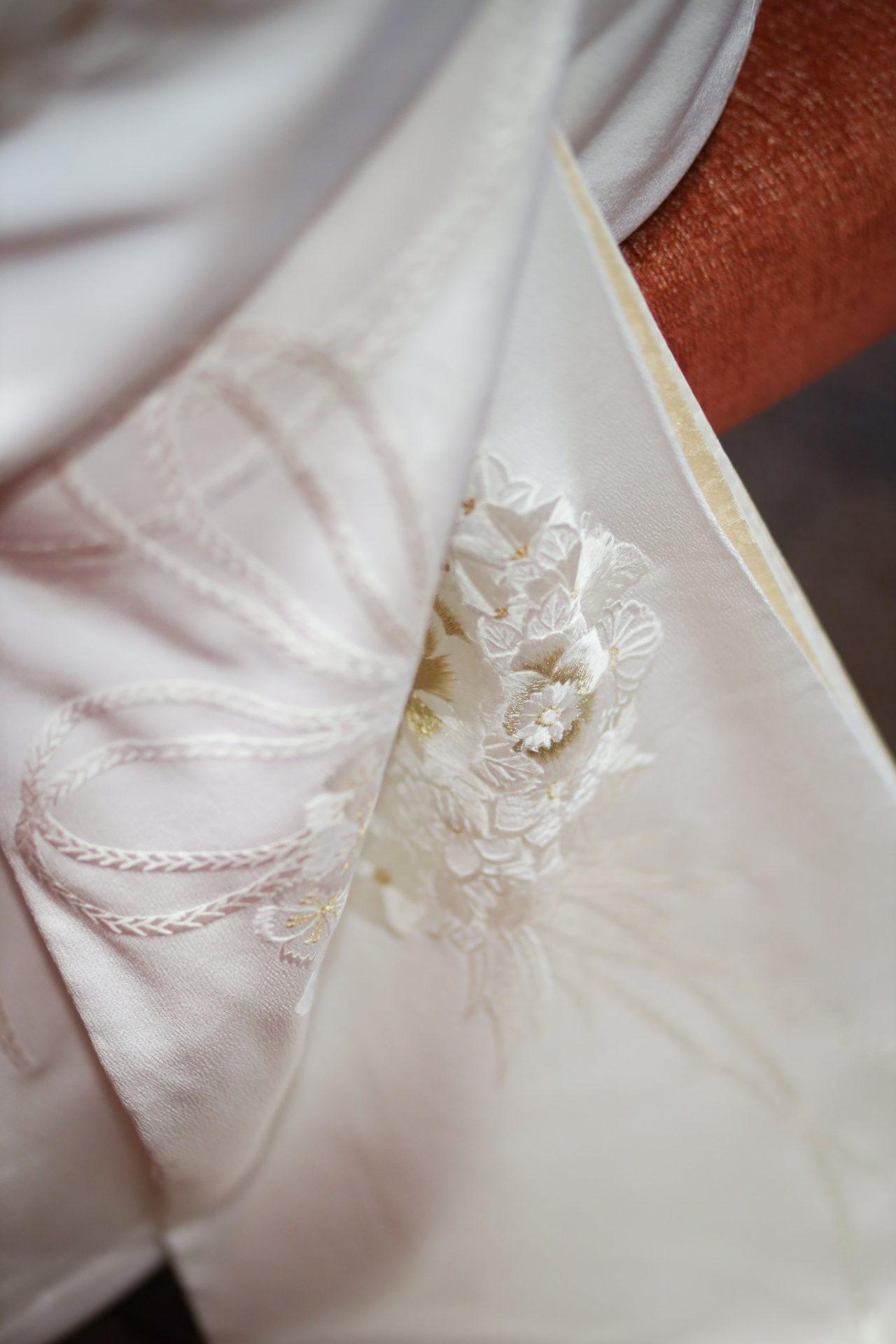 THE FUNATSUYAにてお式をされる花嫁様におすすめの金刺繍の白無垢