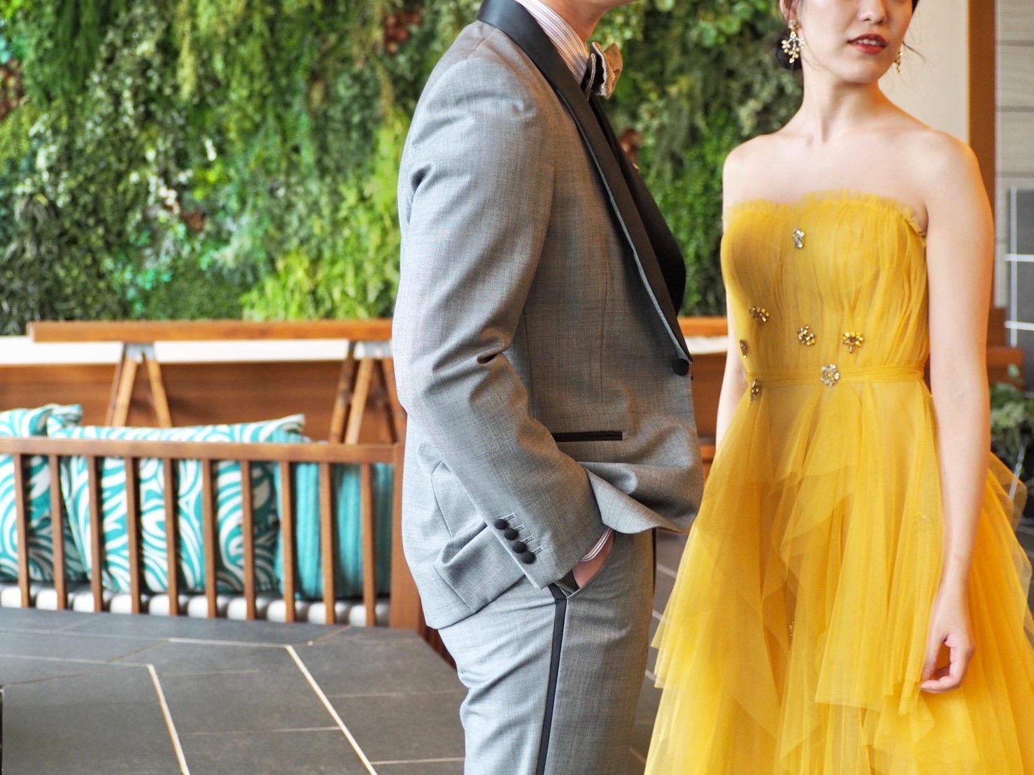 ザ・トリート・ドレッシング神戸店が提携する北野クラブ・ソラのモンスーン・ヴィラでお召しいただきたいリーム・アクラのカラードレスのご紹介