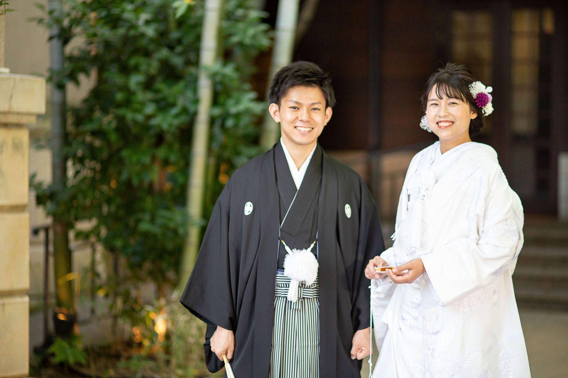 フォーチュンガーデン京都にて前撮りをされる方におススメしたい白無垢のコーディネート