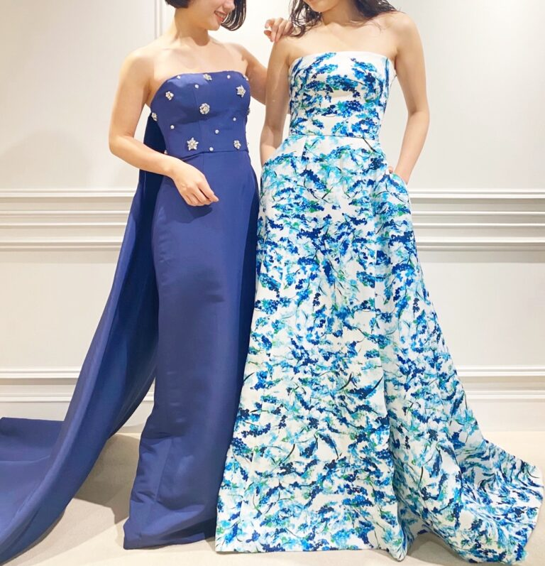 Monique Lhuillier(モニーク・ルイリエ)&AMSALE(アムサーラ)カラードレスのご紹介