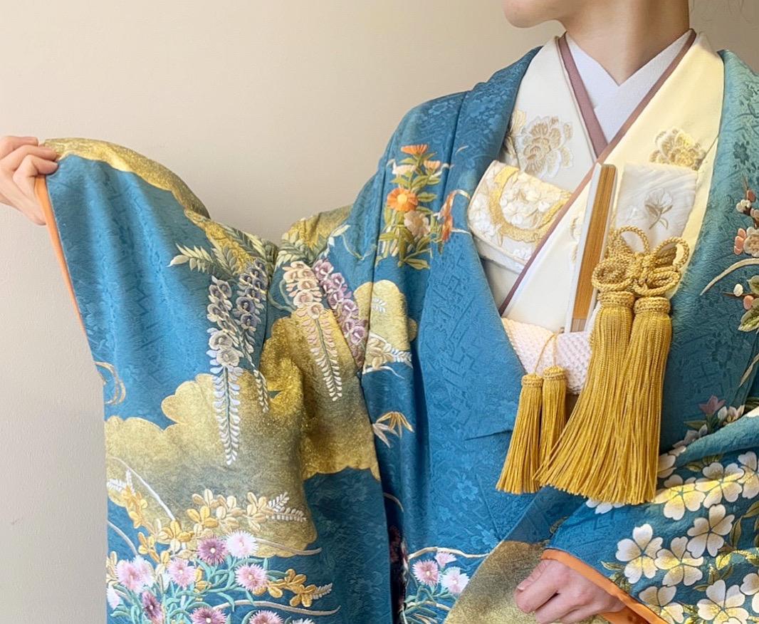 ザ・トリート・ドレッシング京都店にてお取り扱いをしている和モダンな京都の結婚式会場や日本庭園にも映える上品な色打掛のご紹介