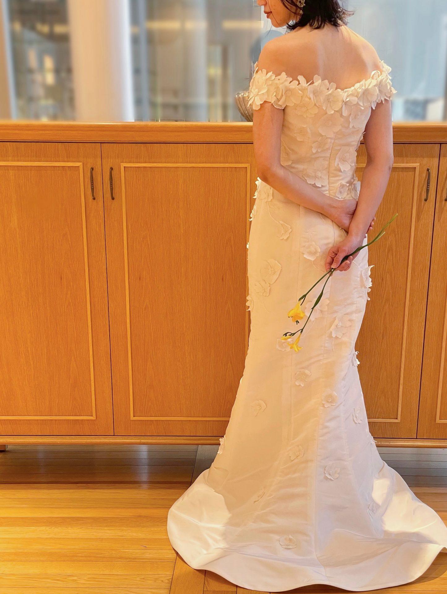 フォーチュンガーデン京都やザソウドウ東山京都でお式や前撮りをされる方におすすめの大人可愛いマーメイドラインのウェディングドレス