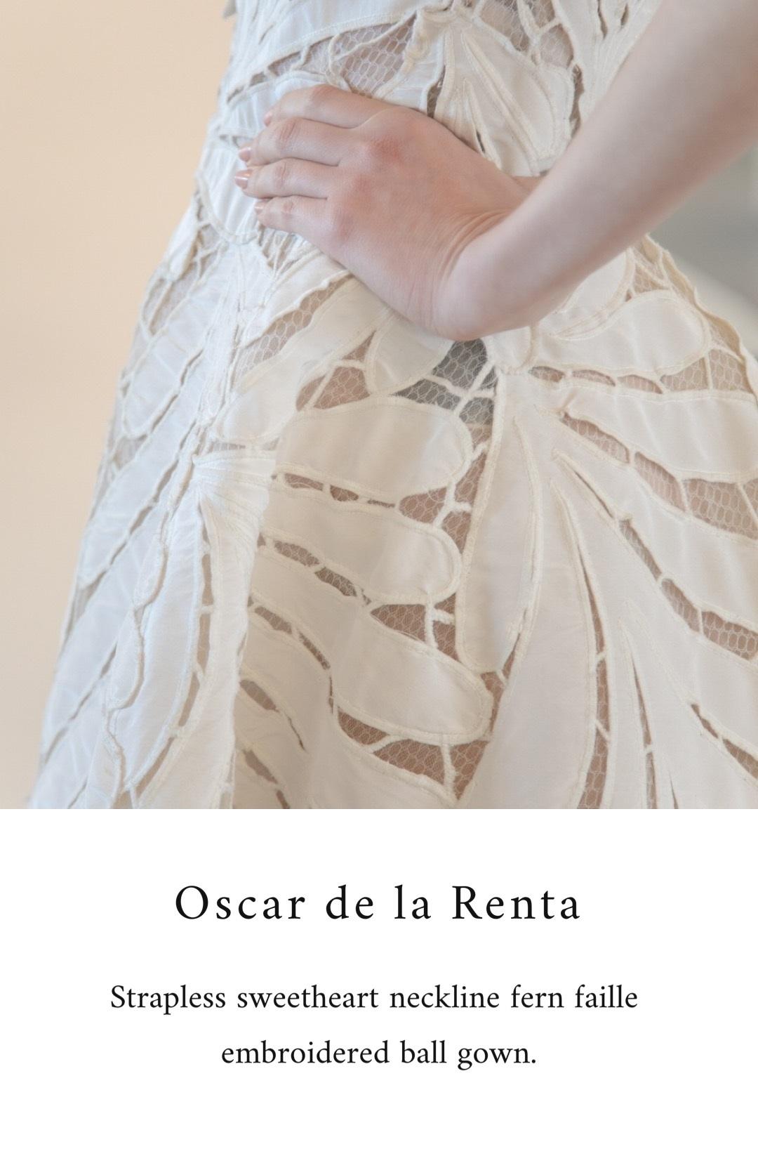 トリートのOSCAR DE LA RENTAのドレス。