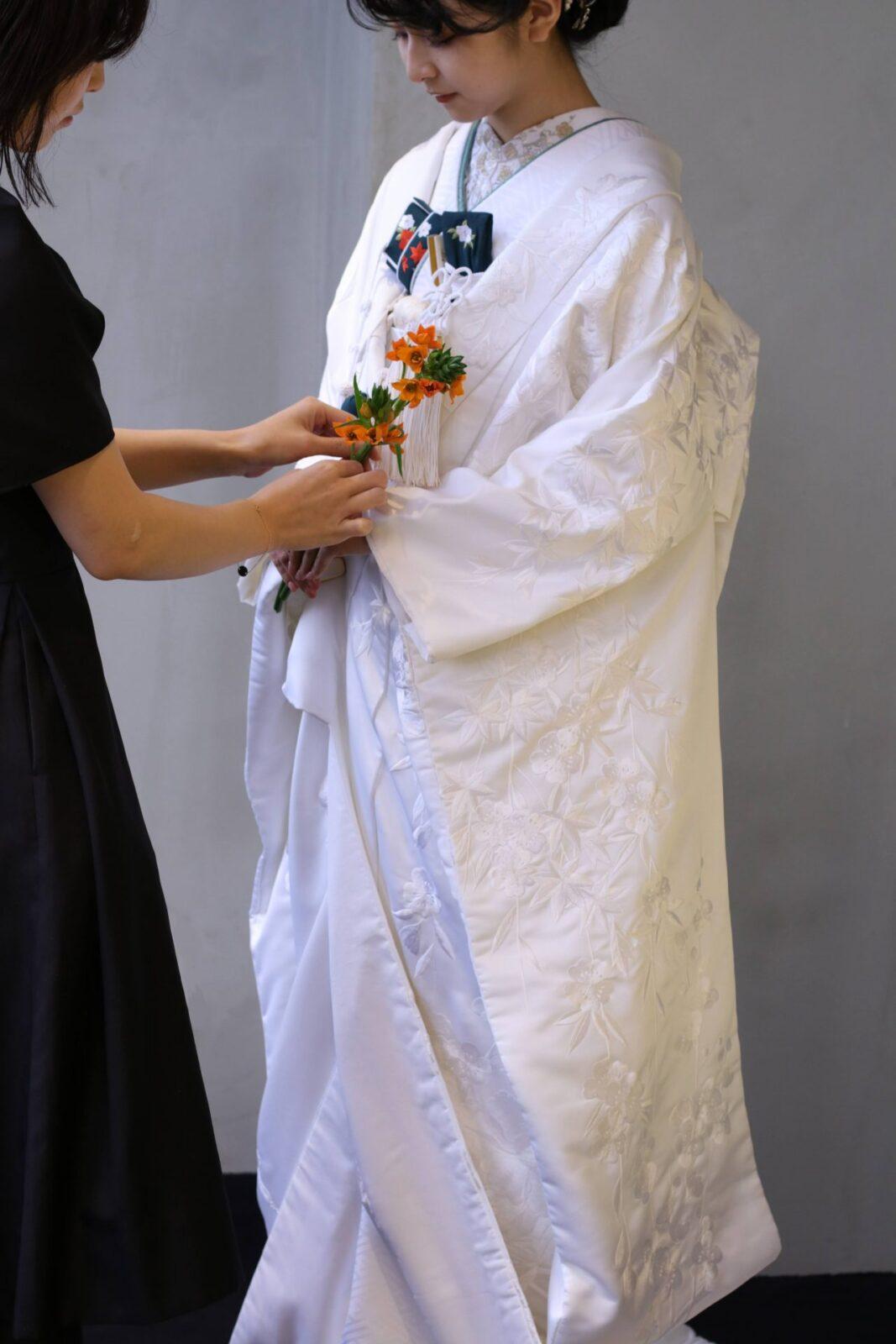 ザトリートドレッシングのコーディネーターが和装のトータルコーディネートを結婚式のテーマに合わせてご提案いたします。
