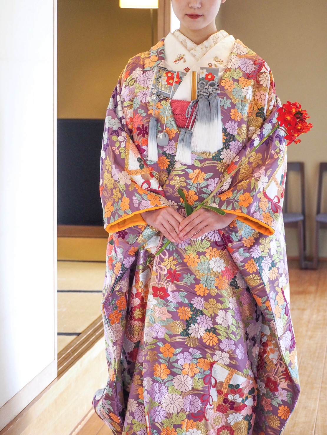 THE TREAT DRESSING神戸店にてお取り扱いのある紫色の色打掛のご紹介