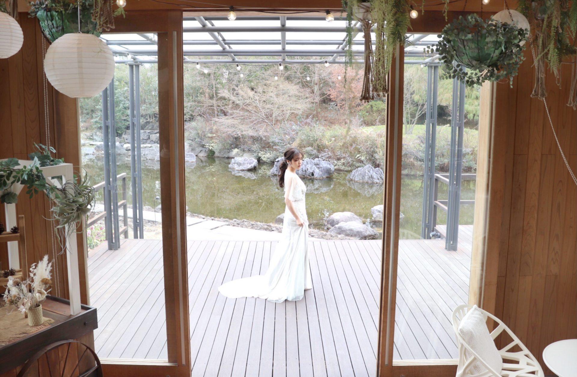 大阪の結婚式会場におすすめのザ・トリートドレッシング大阪店が取り扱いをしているアレクサンドラ・グレッコのカラードレス