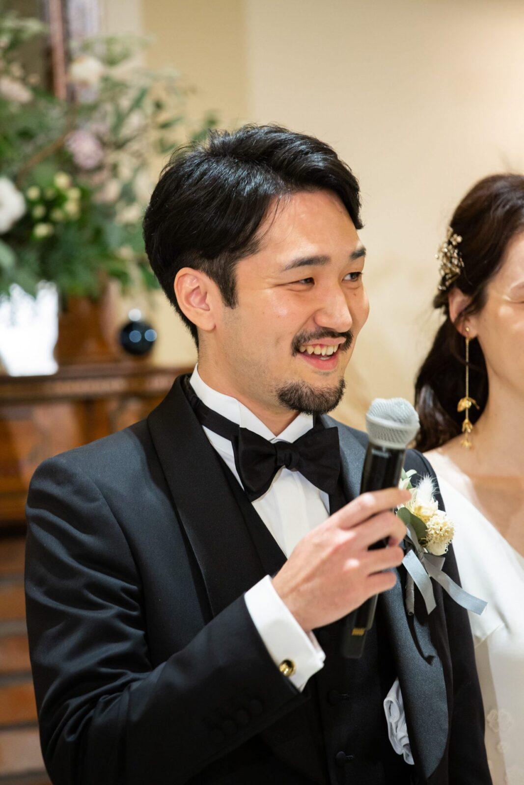 東京・表参道の人気ドレスショップ、ザトリートドレッシングでお手伝いをさせていただいたフォーマルタキシードをお召し頂いたご新郎様