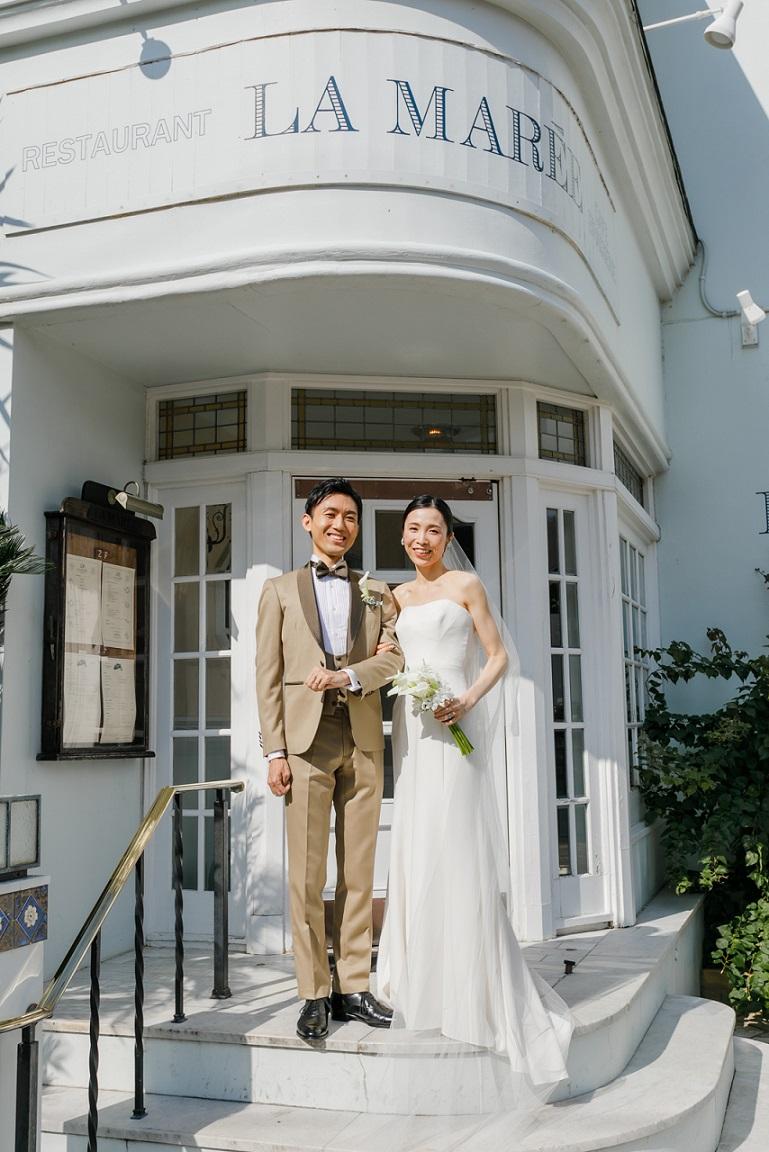 レストランラ・マーレにて結婚式