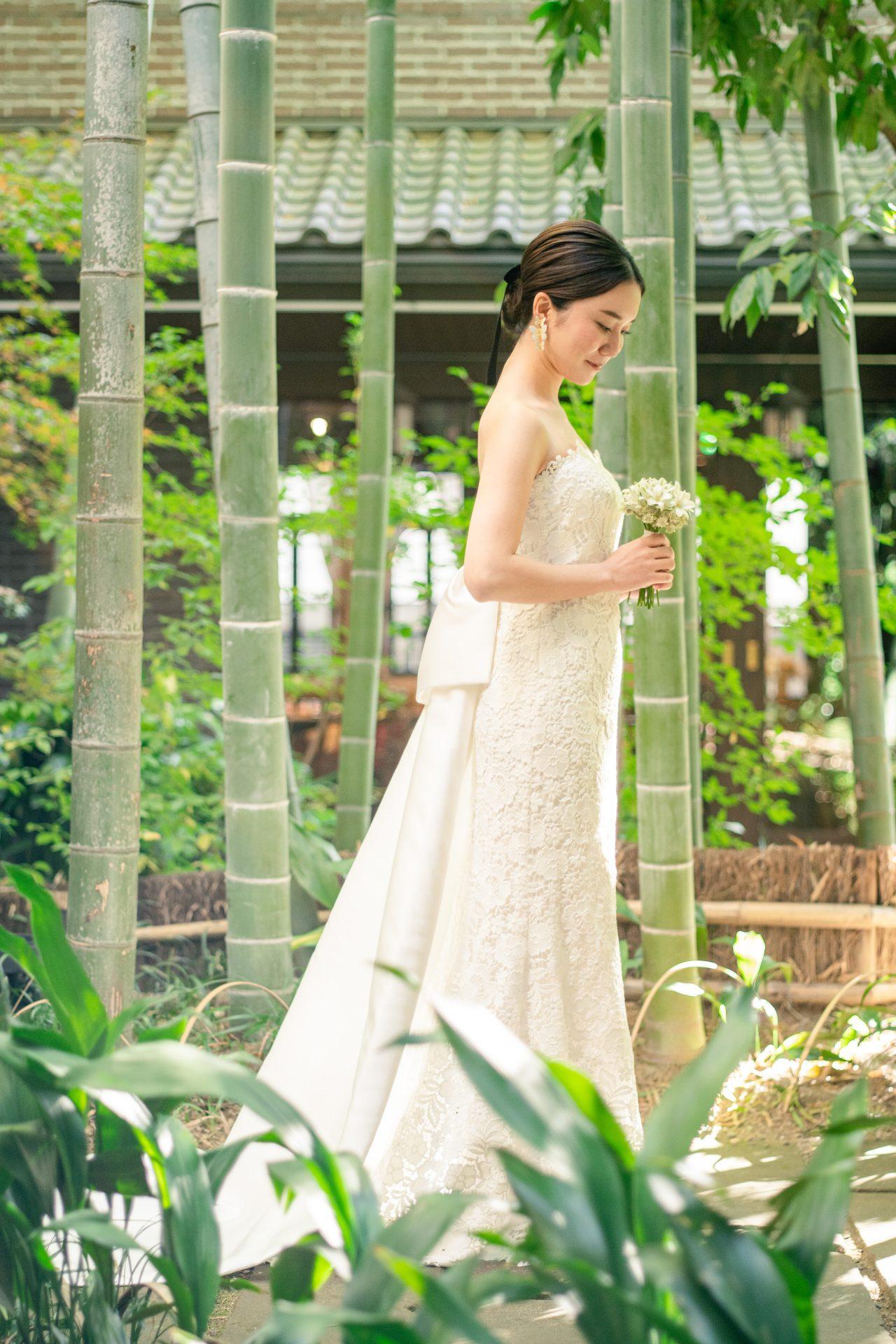 和婚スタイルの合うフォーチュンガーデン京都におすすめの色打掛・ウェディングドレスのご紹介。