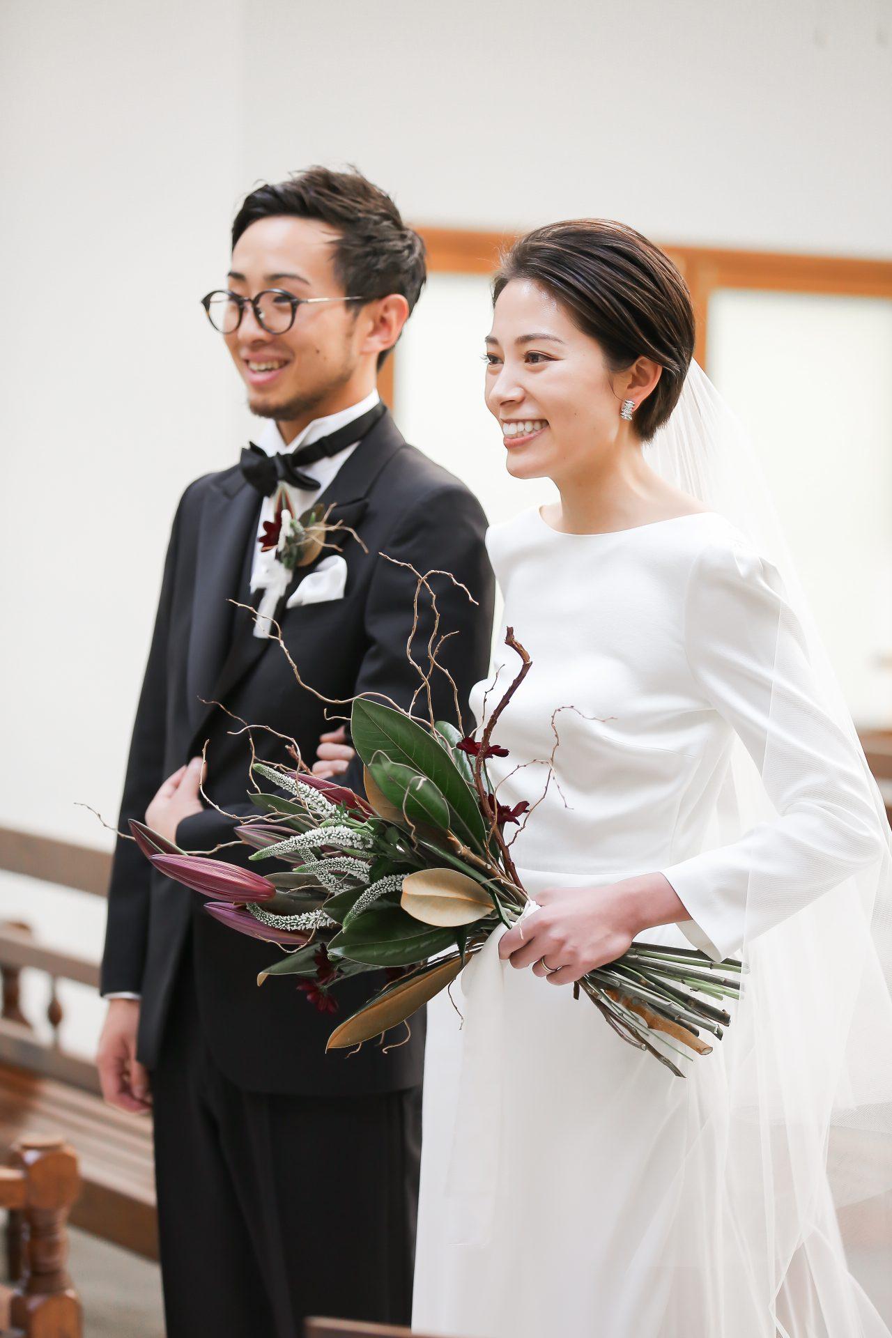 THE TREAT DRESSINGがザ・ナンザンハウスのチャペルでのご家族との対面式