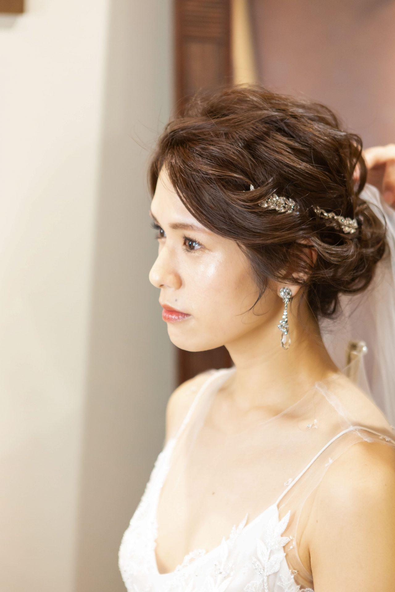 フォーチュンガーデン京都にてお式に向けてお支度をされる花嫁様