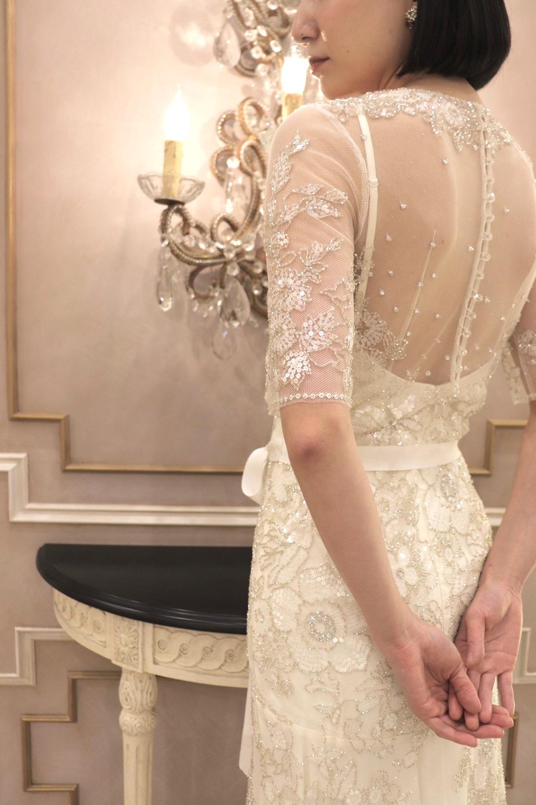 おしゃれなインポートのウェディングドレスがお好きな新婦様におすすめのジェニーパッカムのウェディングドレス
