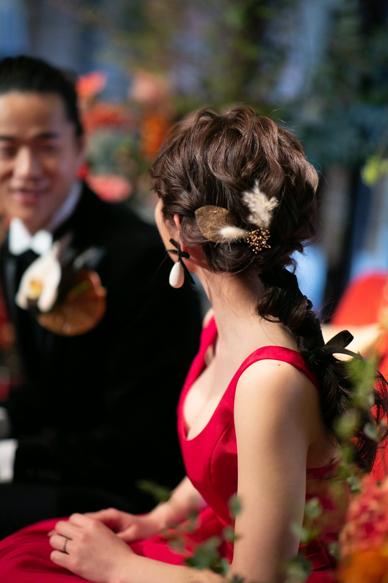 THE TREAT DRESSINGで選ぶお色直しのカラードレスにあわせ、ヘアスタイルやブーケも素敵なコーディネートをお楽しみください