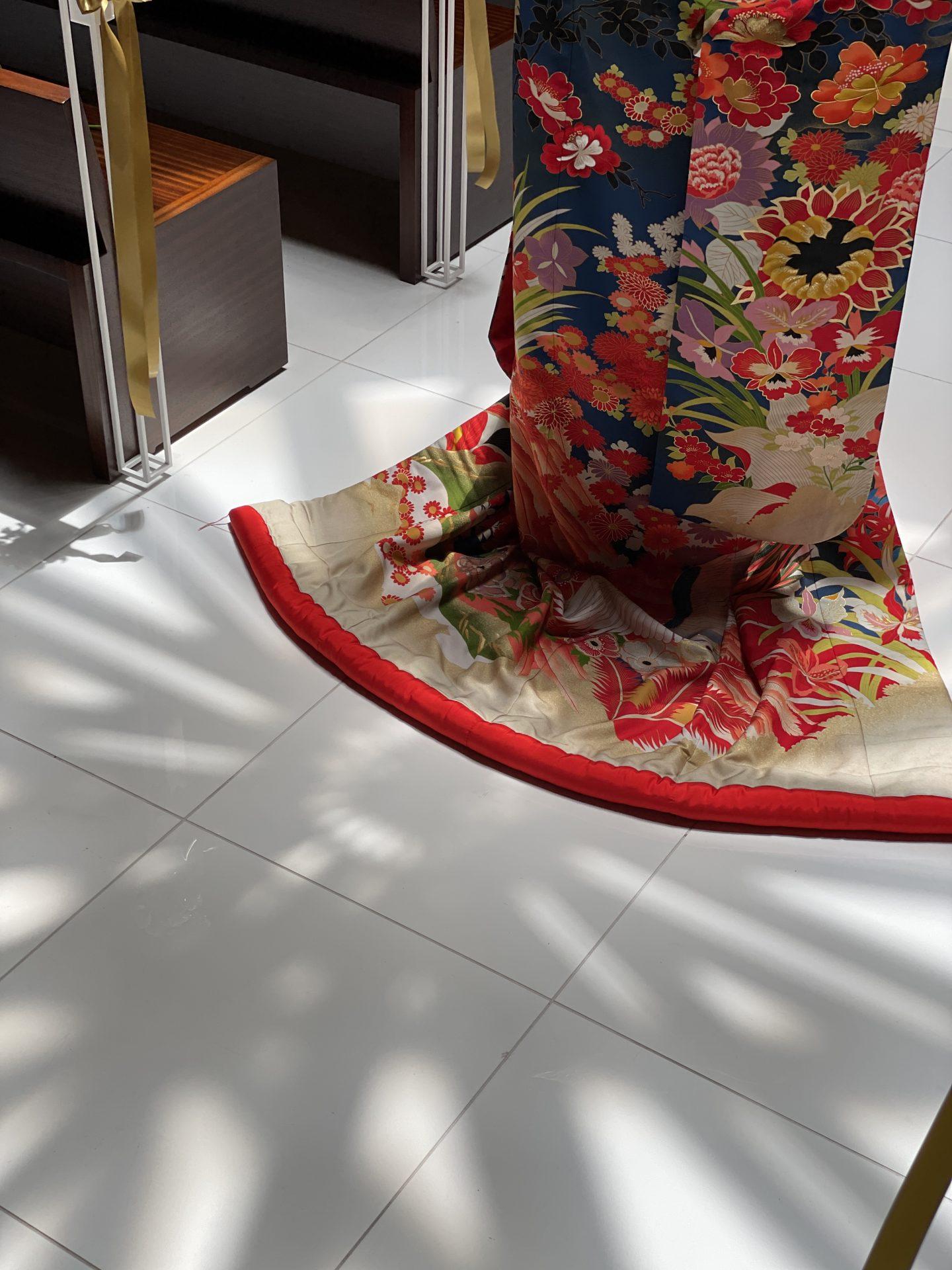 ザトリートドレッシングが新たな提携のドレスショップに加わったハイアットリージェンシー大阪におすすめの和装の色打掛