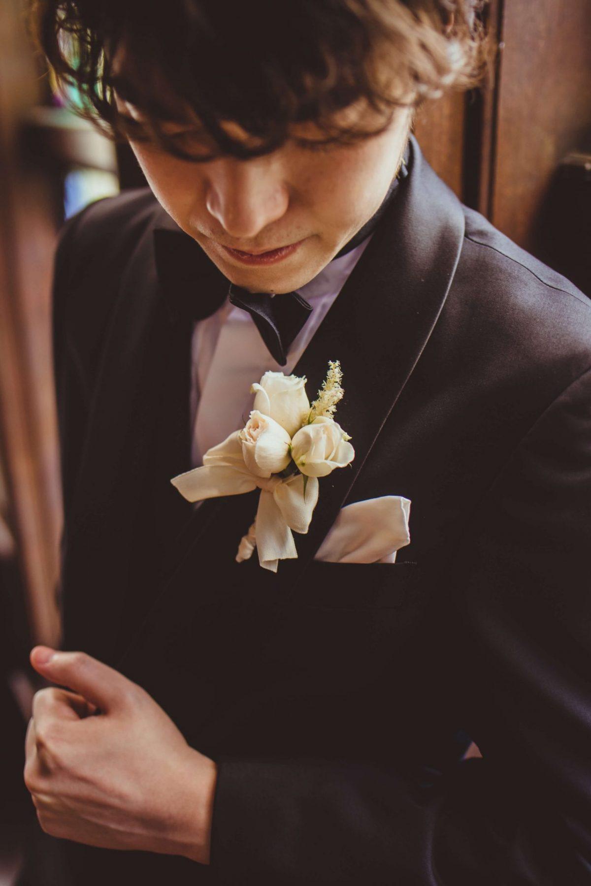 赤坂プリンスクラシックハウスで結婚式を行ったご新郎様がお選びになったのは、ザ トリート ドレッシングのトラディショナルなブラックのタキシード