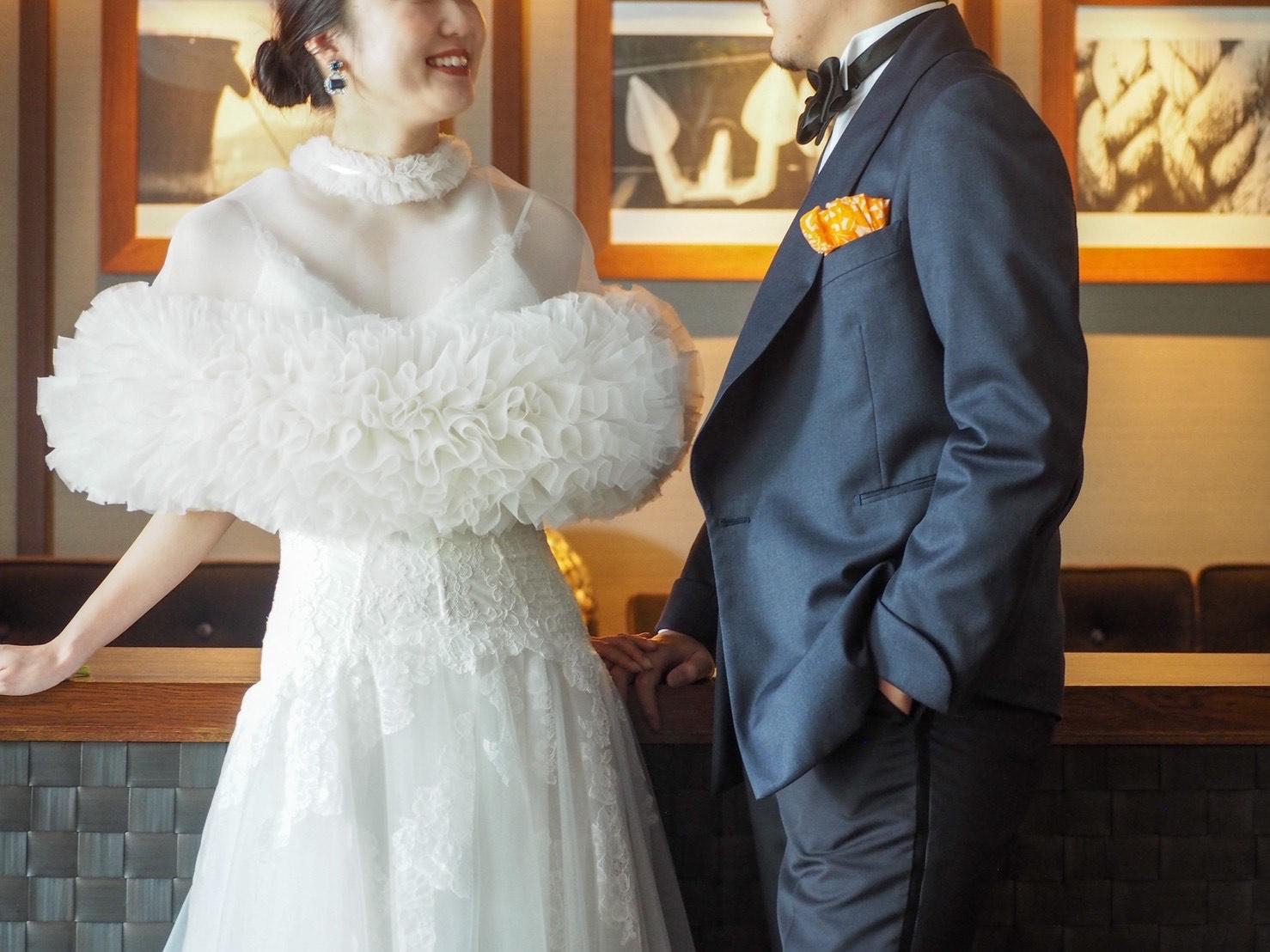 オリエンタルホテル神戸でのパーティーシーンにおすすめのTOMO KOIZUMI for TREAT MAISON(トモ コイズミ フォー トリート メゾン)ケープのご紹介