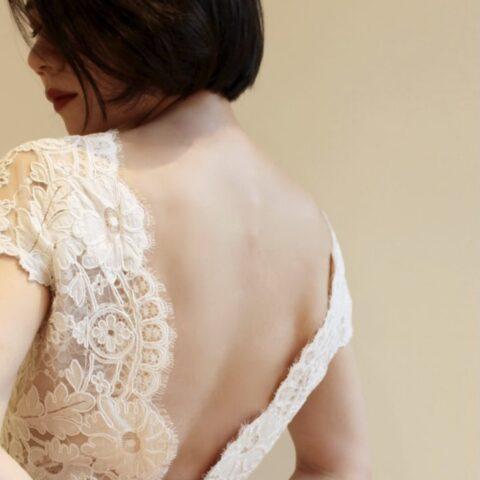THE TREAT DRESSING 京都店でお取り扱いをしているOscar de la Renataのドレスはバックスタイルが魅力的な一着