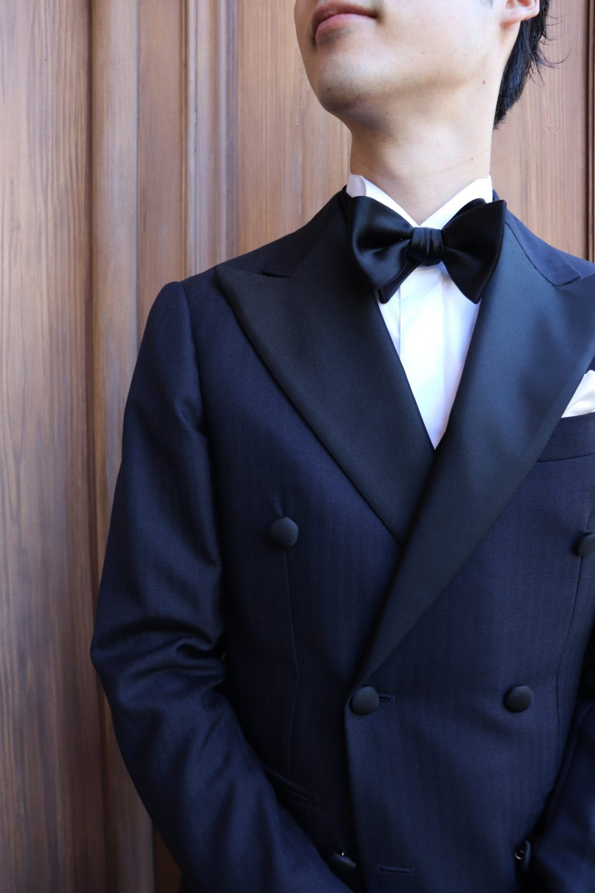 ・THE TREAT DRESSING名古屋店がおすすめする特別感のあるダブルブレストのタキシードのフォーマルスタイル