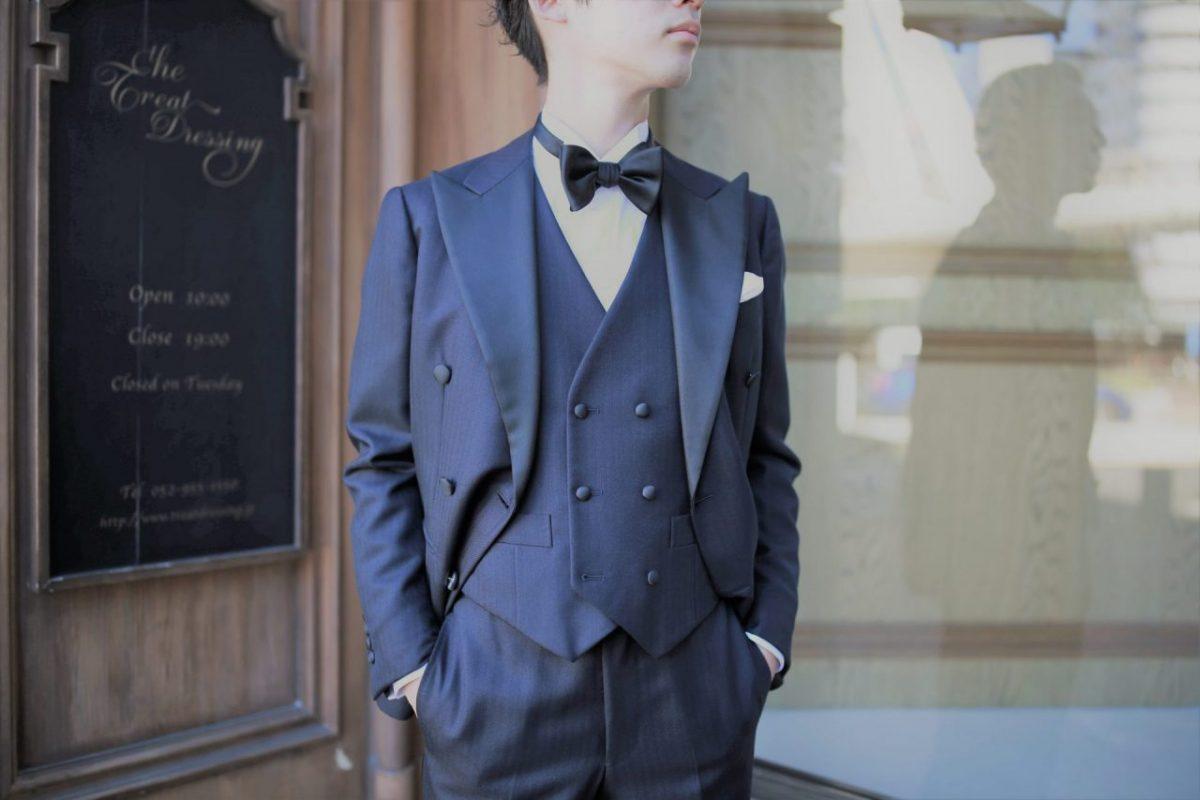 THE TREAT DRESSING名古屋店で紹介する男性らしいダブルブレストのタキシード