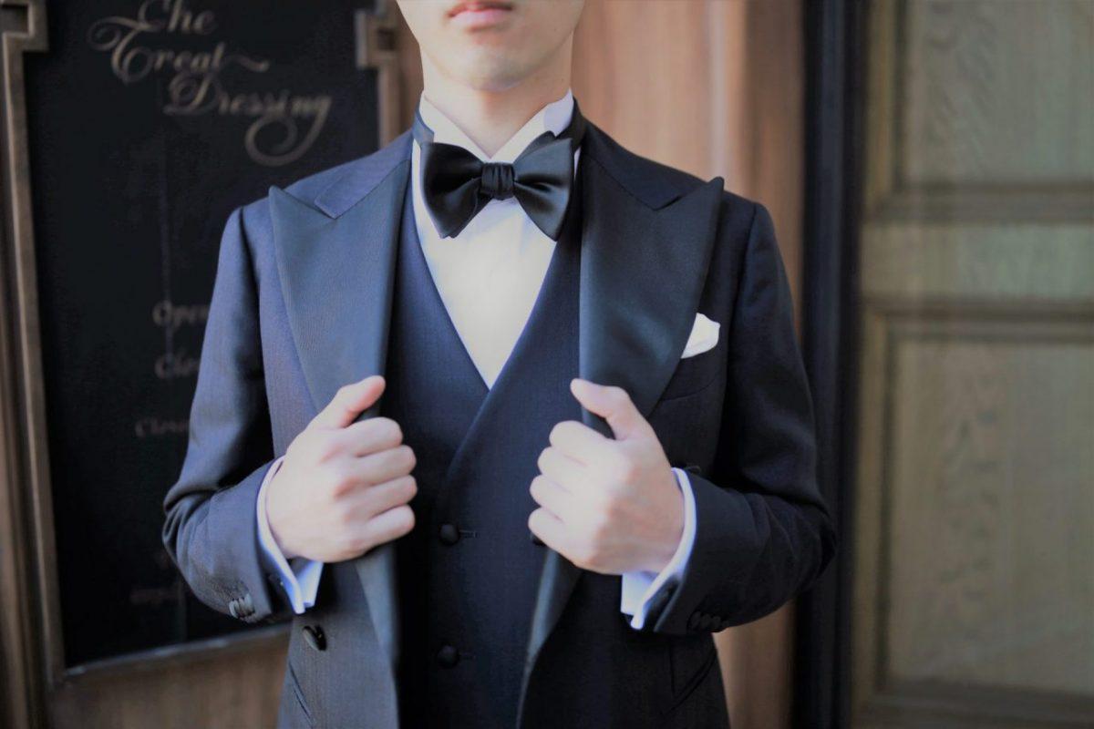 お洋服がお好きな方におすすめするダブルブレストのタキシード